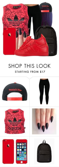 Untitled #1552 by honey-cocaine1972 ❤ liked on Polyvore featuring adidas and Porter