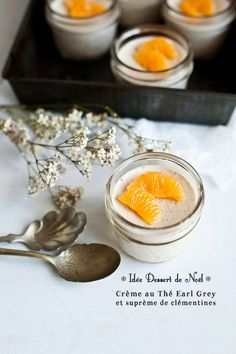 Idée Dessert de Noël // Crème au Thé Earl Grey Suprêmes de clémentines