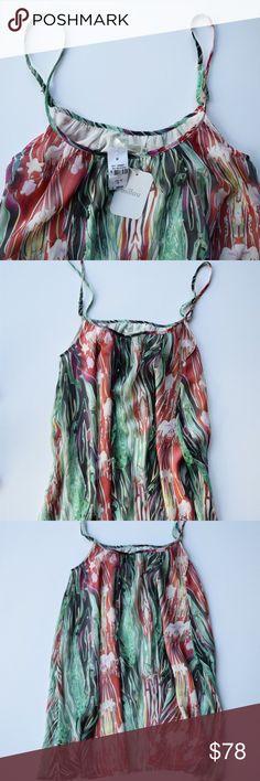 "🆕 M I L L A U  |  Print Dress Darling turquoise print flow dress. Length: 32"" approx laying flat with adjustable straps Millau Dresses"