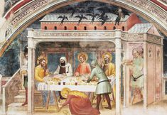 "lilacsinthedooryard: ""GIOVANNI DA MILANO Frescoes in the Rinuccini Chapel, Santa Croce, Florence Feast in the House of Simon the Pharisee (south wall, detail) "" Hope Love, So Much Love, Anne Bancroft, Jesus Christ Superstar, Mary Magdalene, Jesus Lives, 14th Century, Fresco, Art History"