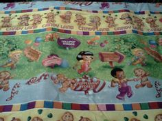 Fabri Quilt Fabric Candyland Candy Land Board Game Print Retro RARE BTY | eBay