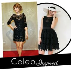 Get formal ready with our new celebrity { Taylor Swift } inspired Tea Party Sleeveless Dress.  #formal #blackdress #graduation #TaylorSwift