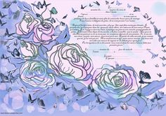 printable pdf  wedding anniversary vows  hebrew/ by SandrineKespi, $50.00