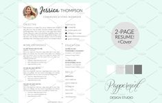 Resume Cover Letters Resume Template  Cover Letter Wordpappermint On Creativemarket .