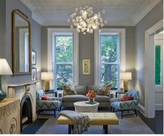 Modernized Victorian Living Room