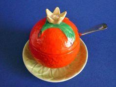 Carlton Ware 'Orange' Preserve Pot c1935