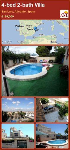 4-bed 2-bath Villa in San Luis, Alicante, Spain ►€199,000 #PropertyForSaleInSpain