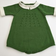 aa15c63e3 Gorgeous green knitted romper with cream collar.Super soft and cosy for  your little one