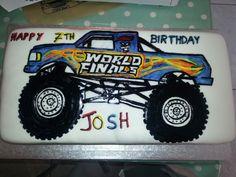 Monster truck bday cakr