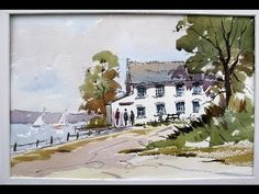 ▶ Easy pen and wash with Alan Owen - YouTube I really like his style!