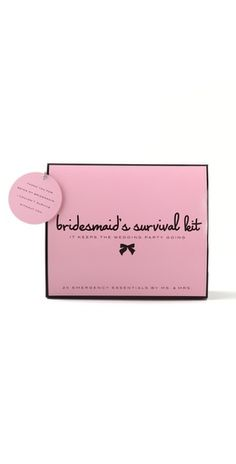 Bridesmaid Survival Kit - great gift from bride! $20