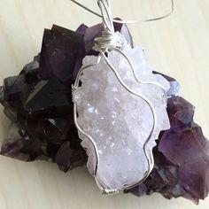 Spirit Quartz wire wrapped jewelry pendant
