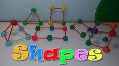 Geometric Shapes with Play-Doh and straws! 3d Shapes, Geometric Shapes, Summer Science, Brain Breaks, Play Doh, Business For Kids, Straws, Make It Yourself, Learning