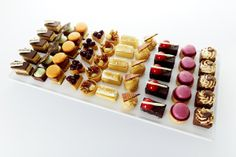 our new gourmet petit fours 'prestige' range. My favourite .. a toss up between the tiramisu and the opera slice