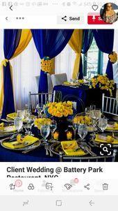 6 Stunning Wedding Palettes for Blue Wedding Decorations, Stage Decorations, Wedding Themes, Wedding Ideas, Decor Wedding, Wedding Photos, Traditional Wedding Decor, African Traditional Wedding, Blue Yellow Weddings