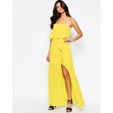 BCBGMaxAzria Ruffle Bandeau Maxi Dress