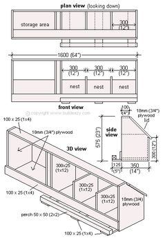 Diy plywood box by simon wells animals chickens for Chicken coop dimensions