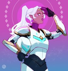 So who else thought that was Allura in the training dummy…