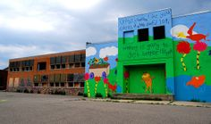 Detroit Abandoned School by Detroit1701, via Flickr. Quote from The Lorax by Dr Seuss.