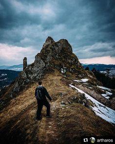 Spoznávanie slovenských kopcov a kopčekov  @artharos  Kopček #slovakia #nature #slovensko #landscape #hills #rock #rocks #clouds