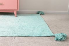 Aqua / mint ombre tassel rug that's machine washable! Great for a toddler or living room since it can be washed so easily! All natural, too! Boy Girl Room, Girl Rooms, Interior Inspiration, Room Inspiration, Aqua Nursery, Aqua Rug, Fantasy Bedroom, Project Nursery, Playroom