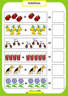 preschool math addition worksheets introduce preschoolers to subtraction with pictures - Criabooks Math Addition Worksheets, Kindergarten Math Worksheets, Kindergarten Worksheets, Math Activities, Preschool Activities, Montessori Math, Montessori Materials, Math For Kids, Coloring