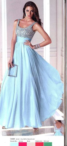 Prom Dresses Evening Dresses by B'Dazzle for Alyce Paris<BR>35689<BR>Sleeveless, scoop neck gown with ruched waist, bodice flower detail and beading.