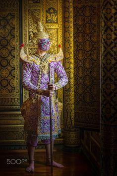 Khon dance, Lord Hanuman, Thailand Monkey Mask, Pantomime, Smiling Man, Masks Art, Hanuman, Thailand, Dance, Antiques, Painting