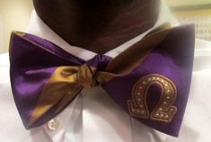 Omega PSI Phi 100 Silk Purple and Old Gold Bowtie for sale online Omega Psi Phi Paraphernalia, Divine Nine, Greek Gifts, Paros, Historical Pictures, Fraternity, Purple, Greeks, Friendship