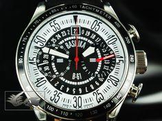 Reloj Poljot International B61 - Cronógrafo - Blanco y Negro Cal. 3133