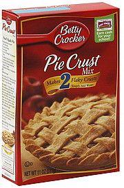 Betty Crocker Pie Crust Mix: 2.5 grams per serving
