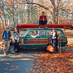 The best adventures include a Jeep, a canoe, and a well dressed crew. Jeep Wagoneer, Vintage Trucks, Old Trucks, Classic Trucks, Classic Cars, Big Yachts, Old Jeep, Fall Is Here, Pickup Trucks