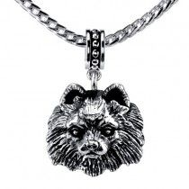 Pomeranian Drop Bead DB-29  |  Perfect for a necklace or for a bead bracelet.  | The drop beads are available in all breeds and are 100% compatible with Trollbeads, PANDORA, & Chamilia bracelets! | Retail Price: $79.95 | 925 Sterling Silver | (Chain not included)   Please note that this drop bead can be special ordered in 10k, 14k or 18k gold. Hand-crafted in the USA |  Available at ANDREW GALLAGHER JEWELERS, Newark, DE 302-368-3380. We Ship!