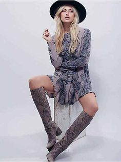 Free People Smooth Talker Printed Tunic, $108.00