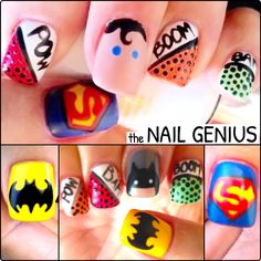 #nail #art #nailart #thenailgenius #superhero #batman #superman #polish #edengelpolish #melbourne
