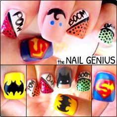 #nail #art #nailart #thenailgenius #superhero #batman #superman #polish #edengelpolish #melbourne