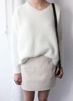 23 Looks with Angora Jumpers Glamsugar.com cream angora jumper