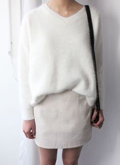 23 Looks with Angora Jumpers Glamsugar.com cream angora jumper