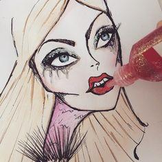 """""""I call her the flamingo-human . Glitter Girl, Sketch Art, Call Her, Fashion Sketches, Fashion Art, Flamingo, Halloween Face Makeup, Illustration, Flamingo Bird"""