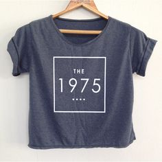 Crop the 1975 Shirt the1975 Shirt the 1975 Tshirt Women's Clothing... (17 CAD) ❤ liked on Polyvore