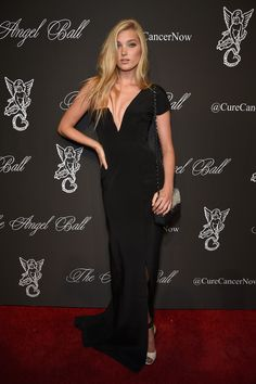 Model Elsa Hosk attends Angel Ball 2014 hosted by Gabrielle's Angel Foundation at Cipriani Wall Street on October 20, 2014
