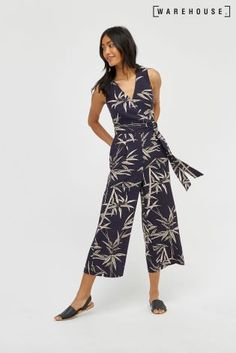 Warehouse Blue Base Bamboo Jumpsuit