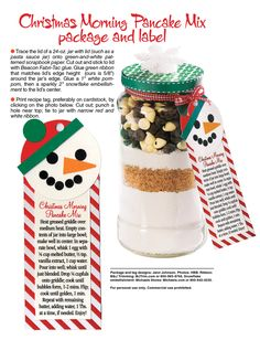 Christmas Morning Pancake Mix gift jar | Woman's World
