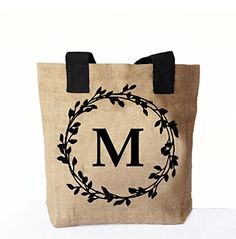 Amore Beaute Handcrafted Natural Burlap Tote Bag Printed Monogram Tote Bags Personalised Market Bags Bridesmaid Present Customized Totes Wedding Favor Gifts Amore Beaute http://www.amazon.com/dp/B01CNJJ0HY/ref=cm_sw_r_pi_dp_j1x6wb0SWSHVW
