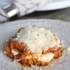 Skinny No Carb Lasagna by Skinny Girl Standard, a low calorie and low carb food blog