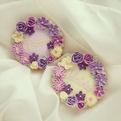 beautiful flower lease cookies