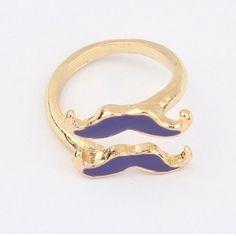 Dubbele snor ring verstelbaar in maat € 4,50| Movember | Bijouterie-Fleurie