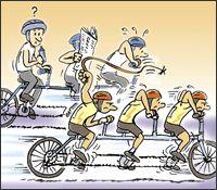 IMAGEN-3 cartoon, cooperate and punish