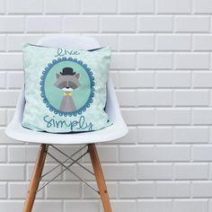 Mint Kids Pillow Geometric Decorative Pillows by LoveJoyCreate,
