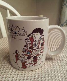 STORYTELLER COFFEE CUP MUG MOM AND CHILDREN TEISSEDRE Southwest western Native